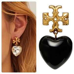 Tory Burch Roxanne Heart Drop Earrings